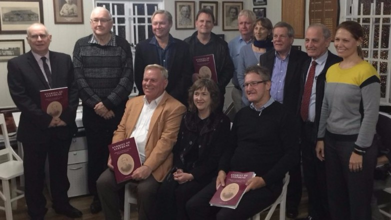 Image: contributing authors and researchers at the launch of Stories of Stephens, Monday 10 July 2017.